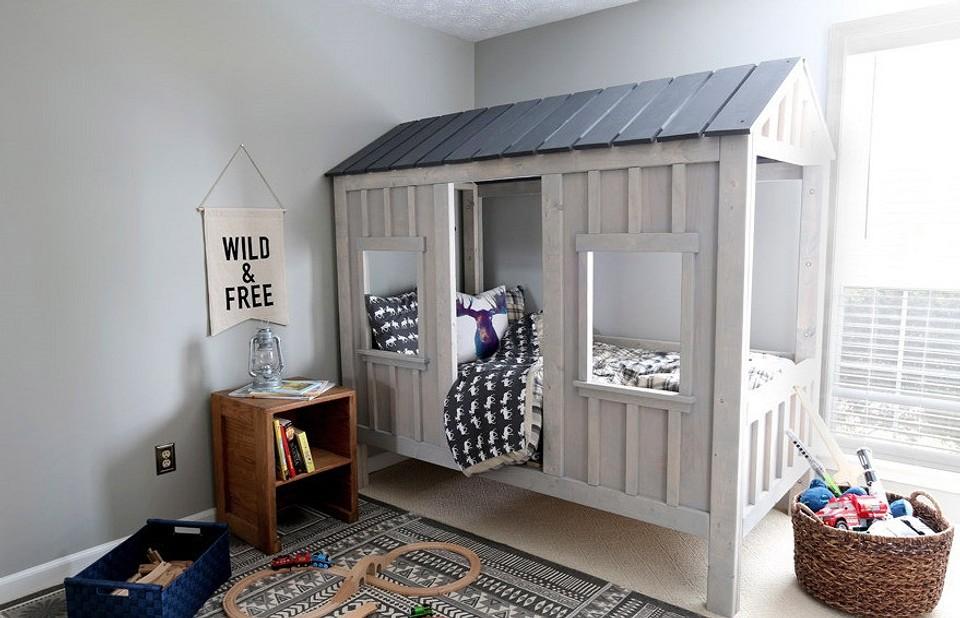 Кровать-домик своими руками: чертежи и схемы для создания сказки «из ничего»