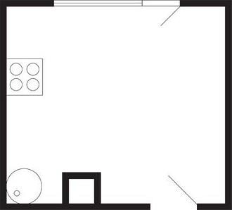 Кухни в 22-этажном доме серии КОП ...