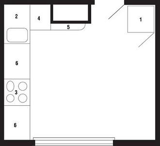 1. Холодильник;2. Мойка 900 мм;3. Элекm...