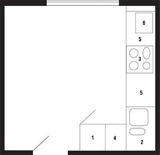 1. Холодильник;2. Мойка (две чаши р&#...