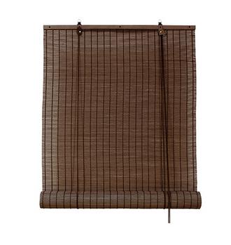 Рулонная штора Эскар бамбуковые (коричневый)