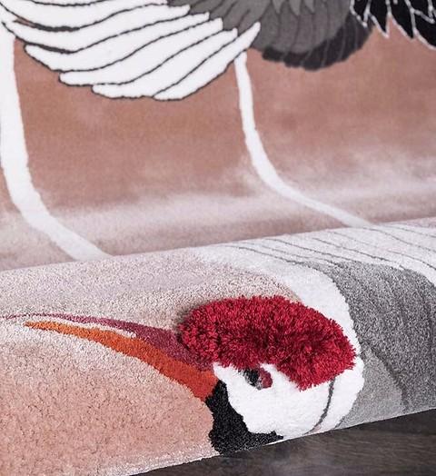 Шёлковый ковёр Heron c узорами птиц с...