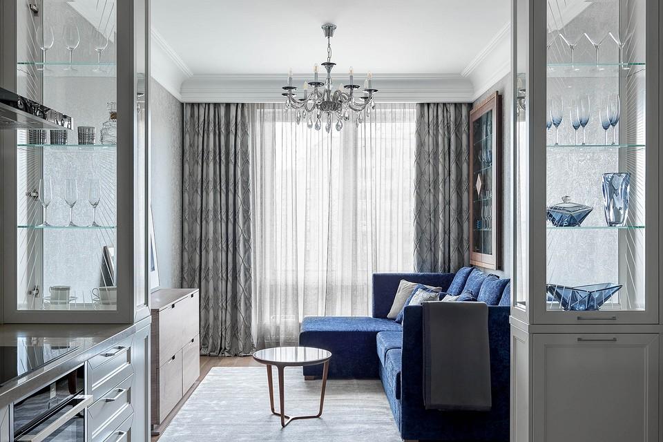 Нескучный серый: квартира в Мытищах в стиле современной классики
