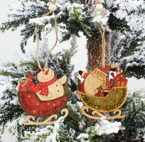 Игрушки фигурки из дерева (набор из 4 шт.)