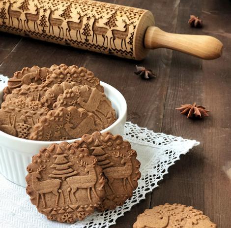 Скалка для рождественского печенья