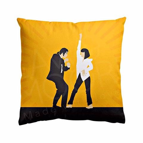 Подушка Pulp Fiction в горчичном цвете и р&...