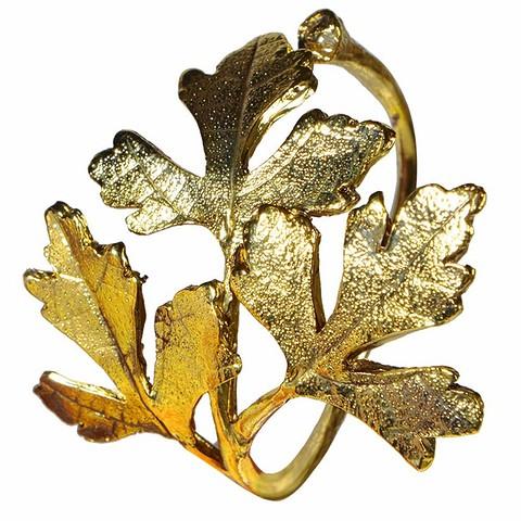 Кольцо для салфетки Golden Leaf в форме л&#...