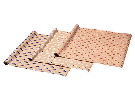 Рулоны бумаги для обертки подарков
