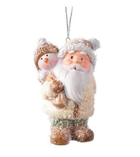 Игрушка в форме Деда Мороза и Снеговика