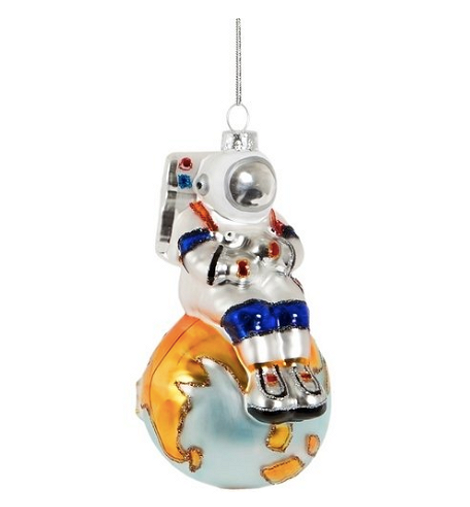 Игрушка на елку в виде космонавта