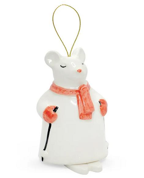 Елочная игрушка в виде мышки