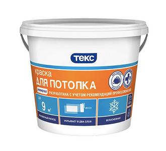 Краска водоэмульсионная ТЕКС для потолка