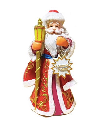 Елочная игрушка Дед Мороз с фонариком
