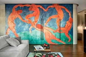 Квартира в Санкт-Петербурге с панно-репродукцией легендарной картины Матисса во всю стену