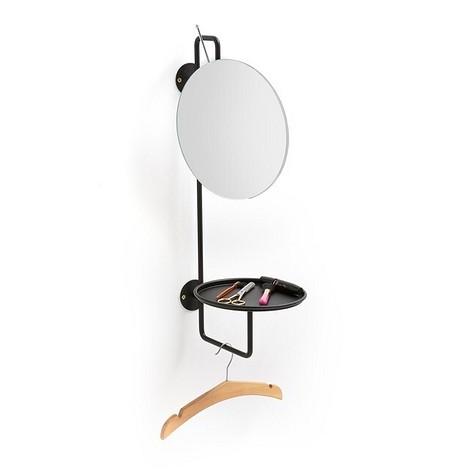 Зеркало с полкой из металла