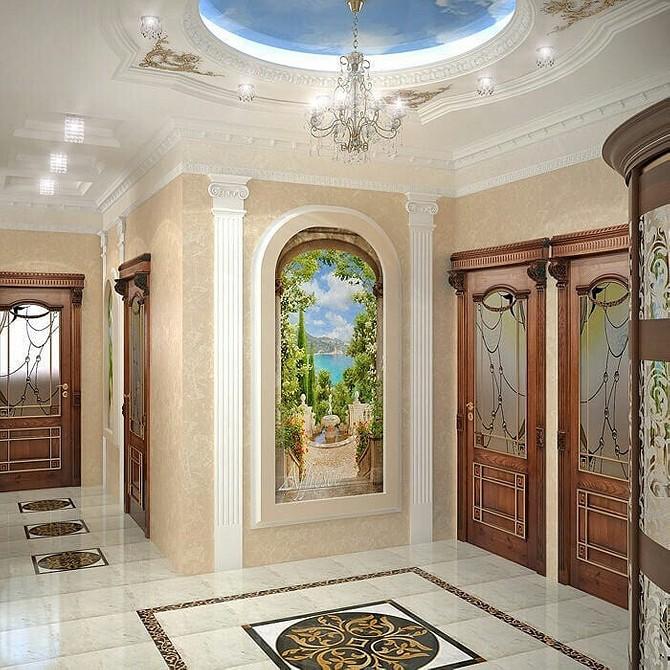 Холл с фресками картинки