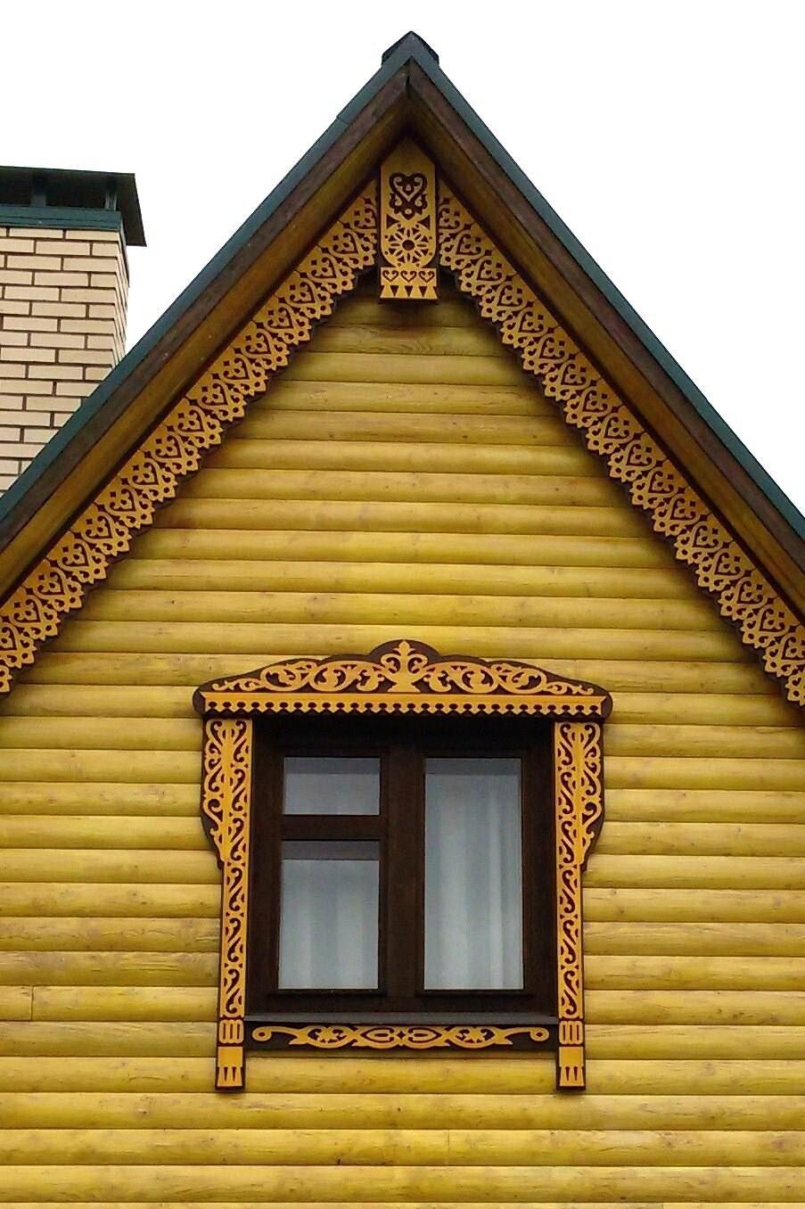 оформление фронтонов деревянных домов фото