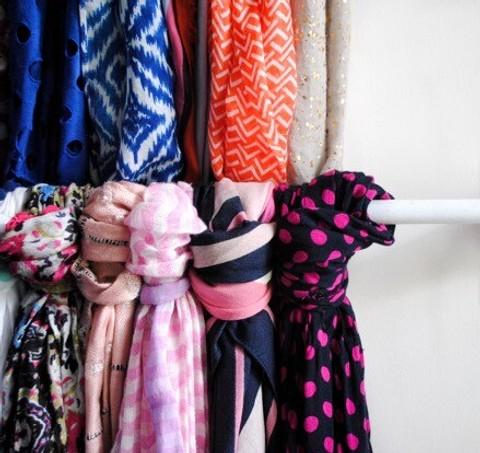 Идея хранения шарфов — прикреп&...