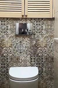 Непростая керамика: 60 дизайн-идей использования плитки в туалете