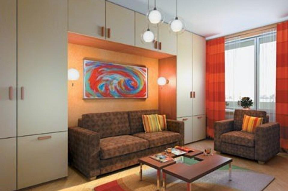 Двухкомнатная квартира общей площадью 58,8 м2: Всем найдется уголок