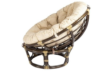 Кресло Papasan натуральный ротанг 90х60х40 см