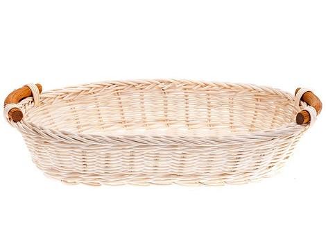 Корзина для хлеба овальная 29х23см, ротанг