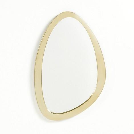 Зеркало с рамой из латуни
