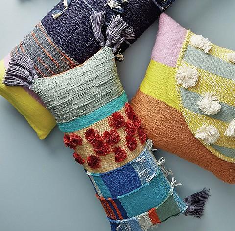 Красочные подушки и валики руч&...