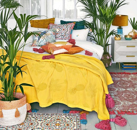 Покрывало для кровати Pineapple и декоl...