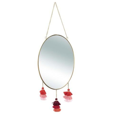 Овальное зеркало, украшенное з&...
