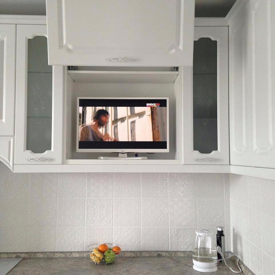 держите ровно, телевизор для кухни в картинках делают