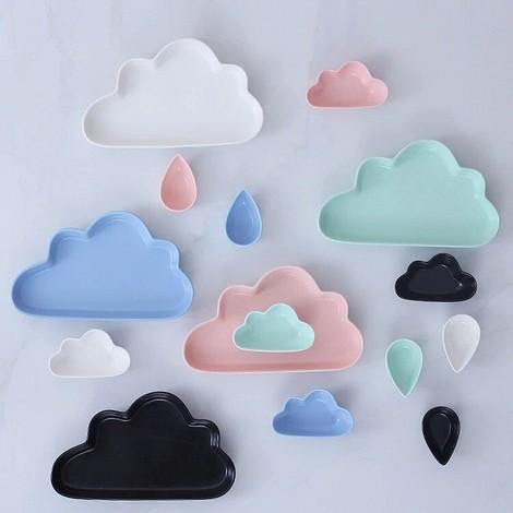 Посуда в виде облаков и капель