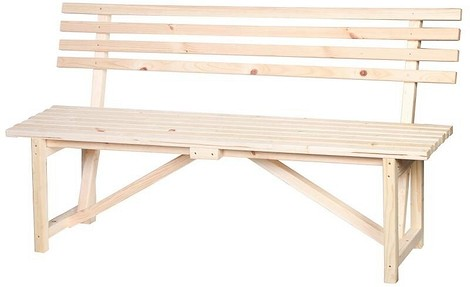 Скамейка со спинкой, 1.5 м