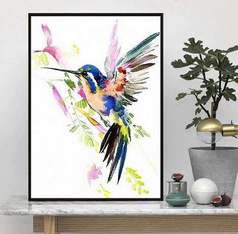 Постер с птицей