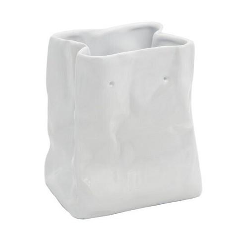 Ваза «Пакет», малая, белая