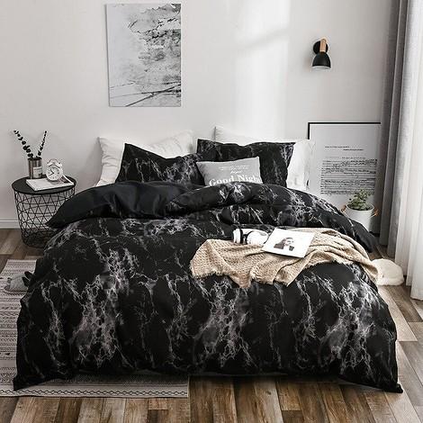 Постельное белье «Черный мрамор»
