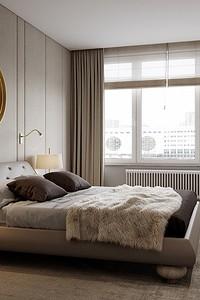 Нескучная спальня в бежевом цвете: 5 стилистических приёмов и 70+ фотоидей