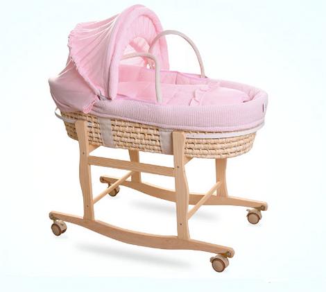 Кроватка-люлька с плетеным основанием