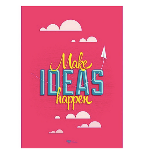 Принт More Ideas Happen