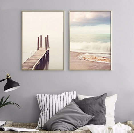 Картина с изображением пляжа
