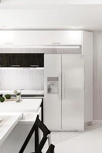 Дизайн кухни в стиле хай-тек (66 фото)