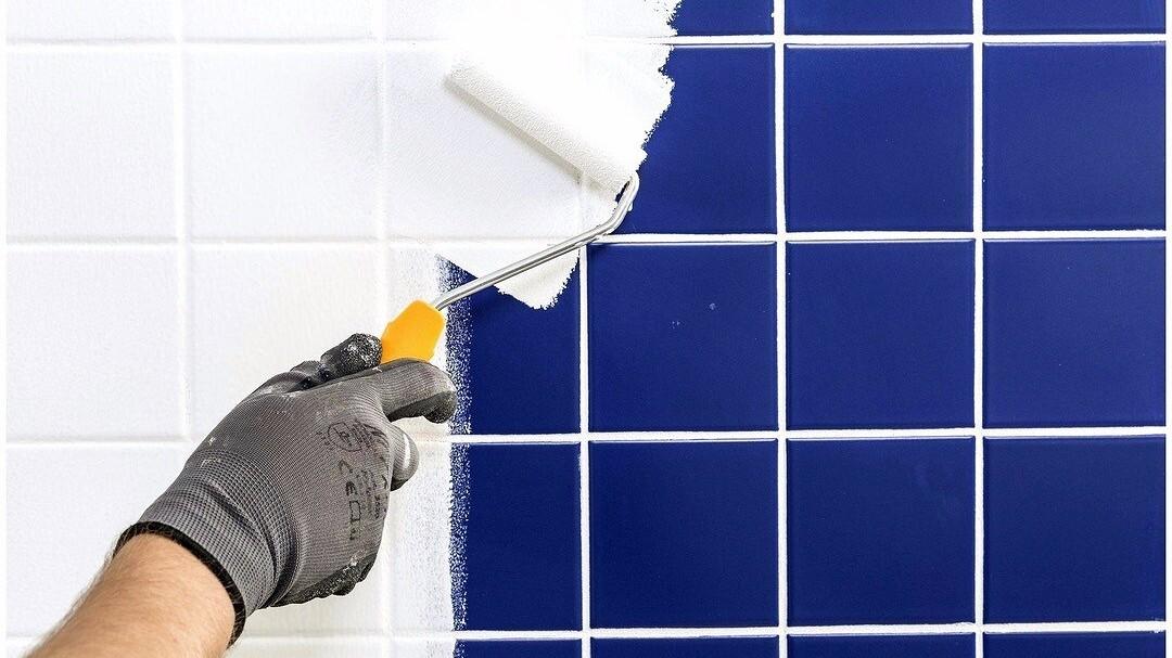 как покрасить кафельную плитку на кухне