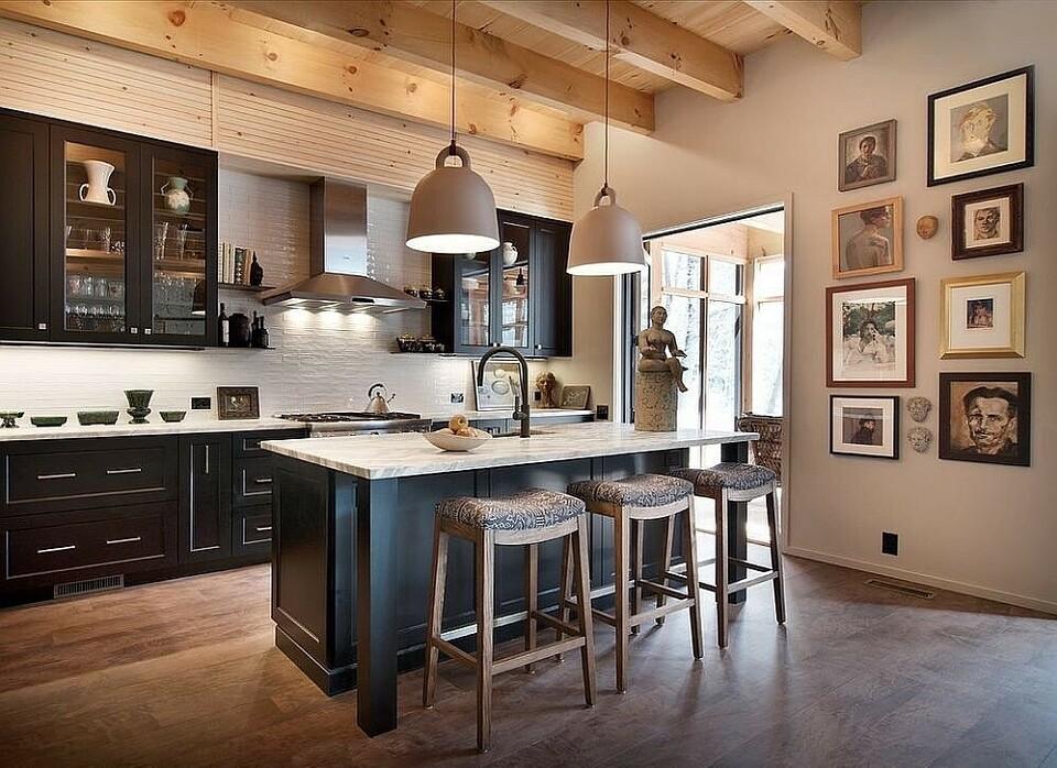 Дизайн кухни-гостиной в частном доме: как объединить зоны, чтобы было удобно и красиво