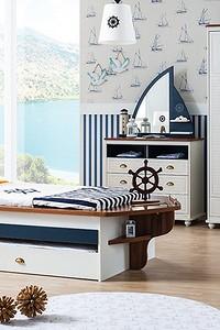Детская комната в морском стиле (30 фото)