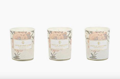 Комплект ароматических свечей «Зимняя груша»