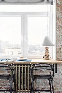 10 маленьких кухонь с подоконником-столешницей