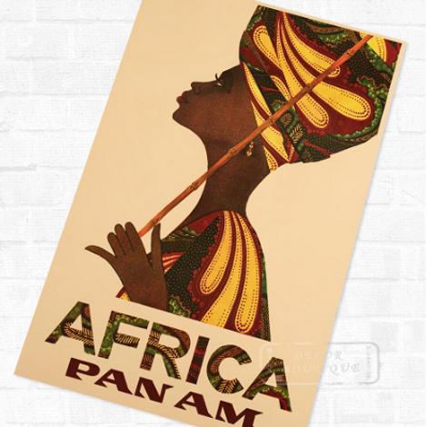 Постер с африканскими мотивами
