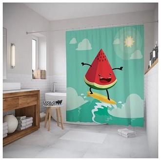 Штора для ванной JoyArty Арбуз на серфе 180x200