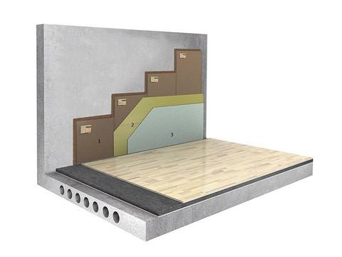 Вариант звукоизоляции бетонн...