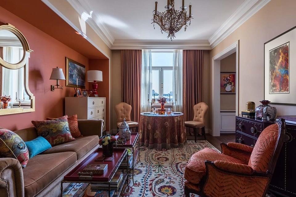 Из убитой двушки в роскошную квартиру с восточными мотивами: проект в сталинке